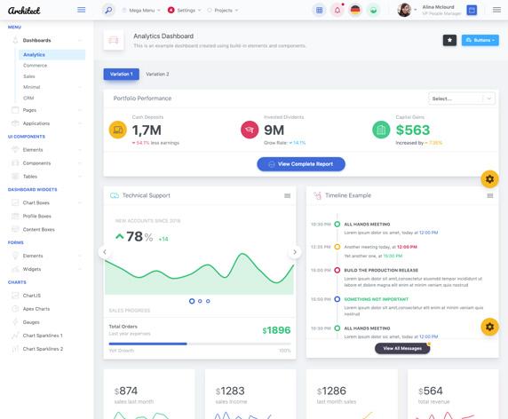 ArchitectUI - Modern Responsive ReactJS & Bootstrap 4 jQuery